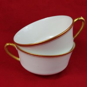 heinrich-hco-selb-bavaria-germany-white-gold-band-set-of-2-cups-lot-6