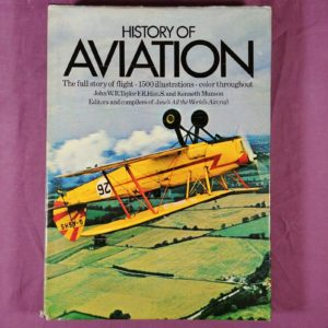history-of-aviation-by-john-taylor-kenneth-munson-hardcover-1975