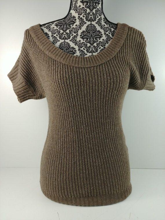 hollister-juniors-womens-gray-long-sweater-size-xs-short-sleeve-knit