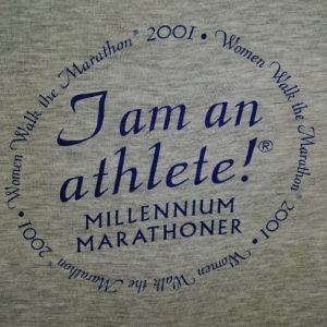 im-an-athlete-womens-marathon-2001-gray-t-shirt-millennium-marathoner-l
