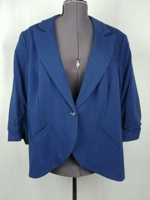inc-international-concepts-blue-scrunch-3-4-sleeve-blazer-womens-plus-size-2x