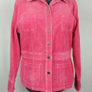 jones-sport-pink-corduroy-stretch-button-up-jacket-coat-womens-size-xl
