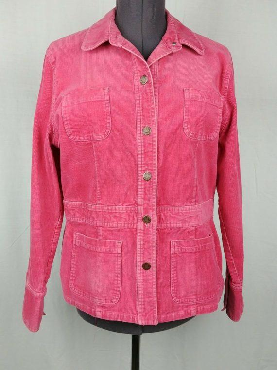 jones-sport-pink-corduroy-stretch-button-up-jacket-coat-womens-size-xl