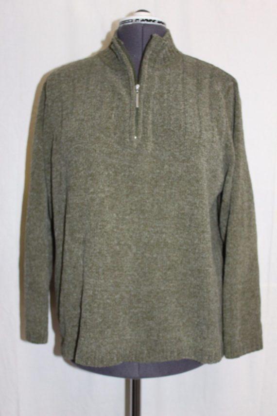 karen-scott-pull-over-sweater-partial-zip-womens-size-xl