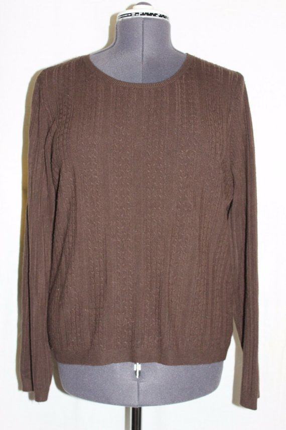 karen-scott-solid-brown-long-sleeve-knit-top-sweater-womens-size-large