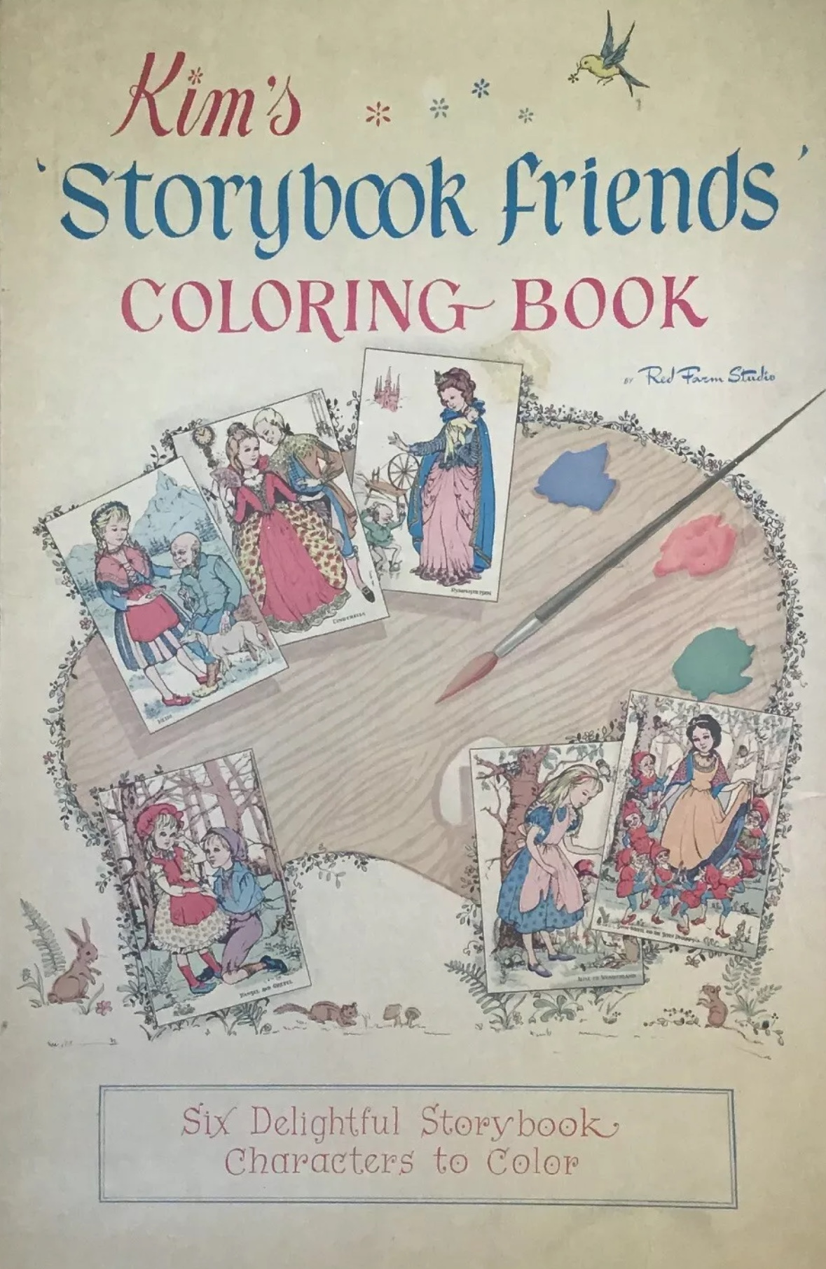 Kim's Storybook Friends Oversize Children\'s Vintage Coloring Book Ellen  Nelson