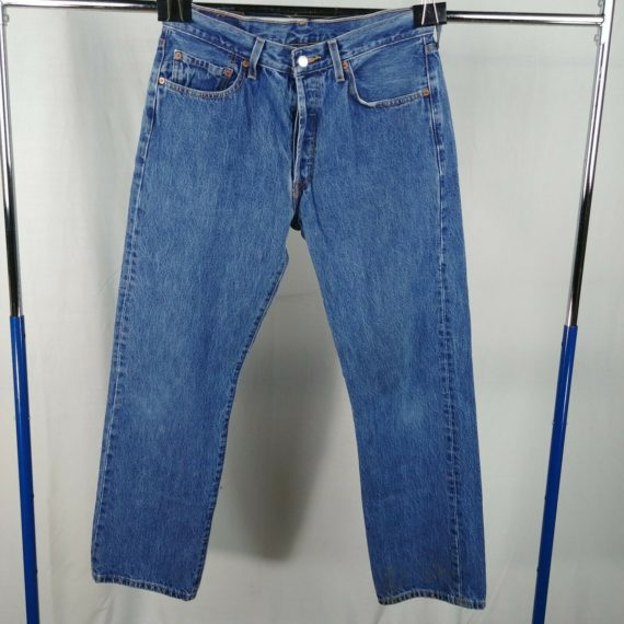 levi-501-button-fly-blue-jeans-mens-size-34-x-30-100-cotton-straight-leg