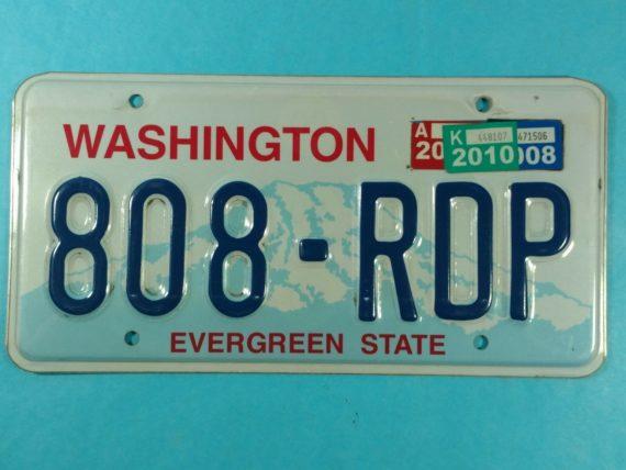license-plate-washington-state-single-808rdp-evergreen-state