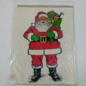 limpy-klings-santa-3300-window-sticker-cling-1973-christmas-decoration-10-x-8