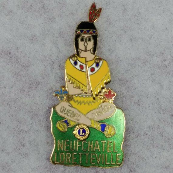 lions-club-intl-pin-quebec-canada-neufchatel-loretteville-native-american