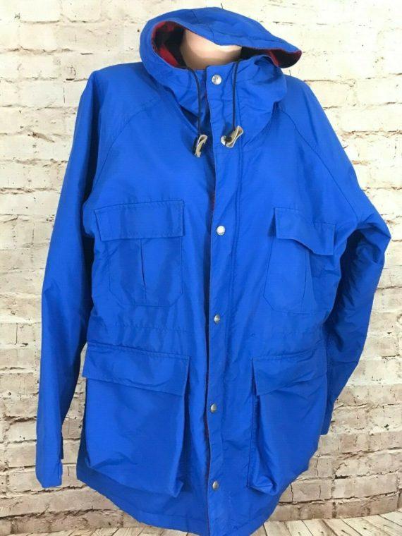 ll-bean-womens-blue-hooded-baxter-state-parka-zip-jacket-wool-lining-xl-usa
