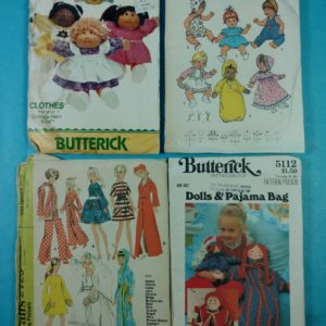 lot-115-group-of-4-vintage-sewing-patterns-doll-outfits-butterick-mccalls