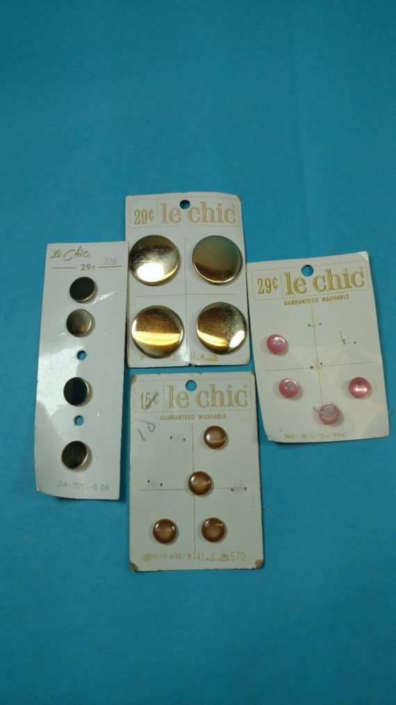 lot-13-of-vintage-buttons-from-estate-misc-le-chic-metal-pink
