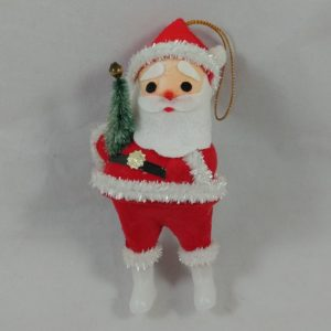 lot-45-vintage-santa-clause-ornament-figure-plastic-foam-velvet-flocking