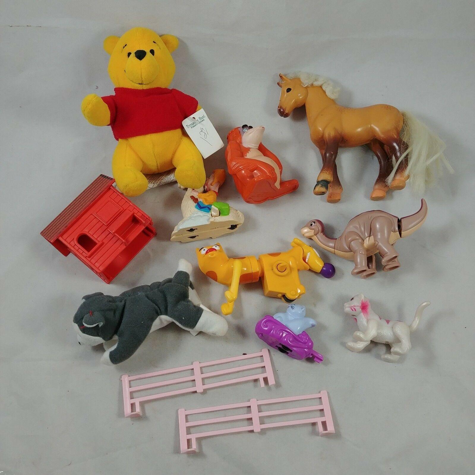 1b581f0bd624 Lot #6 Mixed Lot of 11 Toys Grab Bag Pooh Disney Horse Cat Dog ...