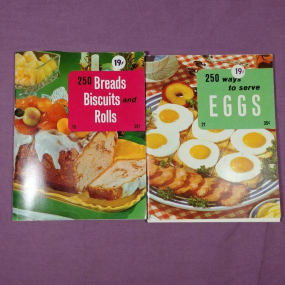 lot-of-2-250-ways-to-serve-eggs-bread-rolls-vintage-cookbook-booklet-pamphlet