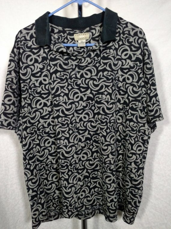 mens-natural-issue-black-gray-polo-shirt-size-xxl-cotton-poly-blend