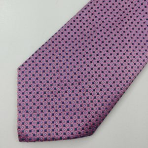 mens-neck-tie-nautica-100-silk-pink-blue-geometric-squares-diamonds-24