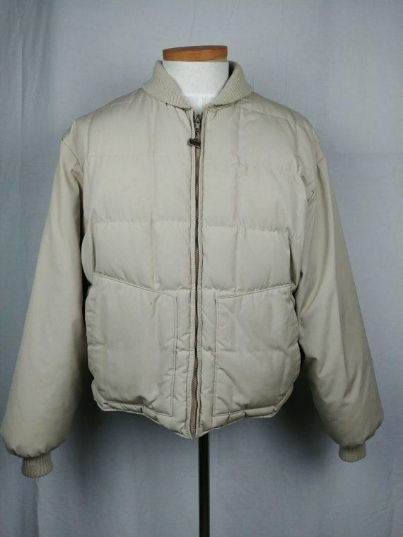 mens-sz-54-tan-walls-blizzard-pruf-full-zip-puffer-down-coat-jacket