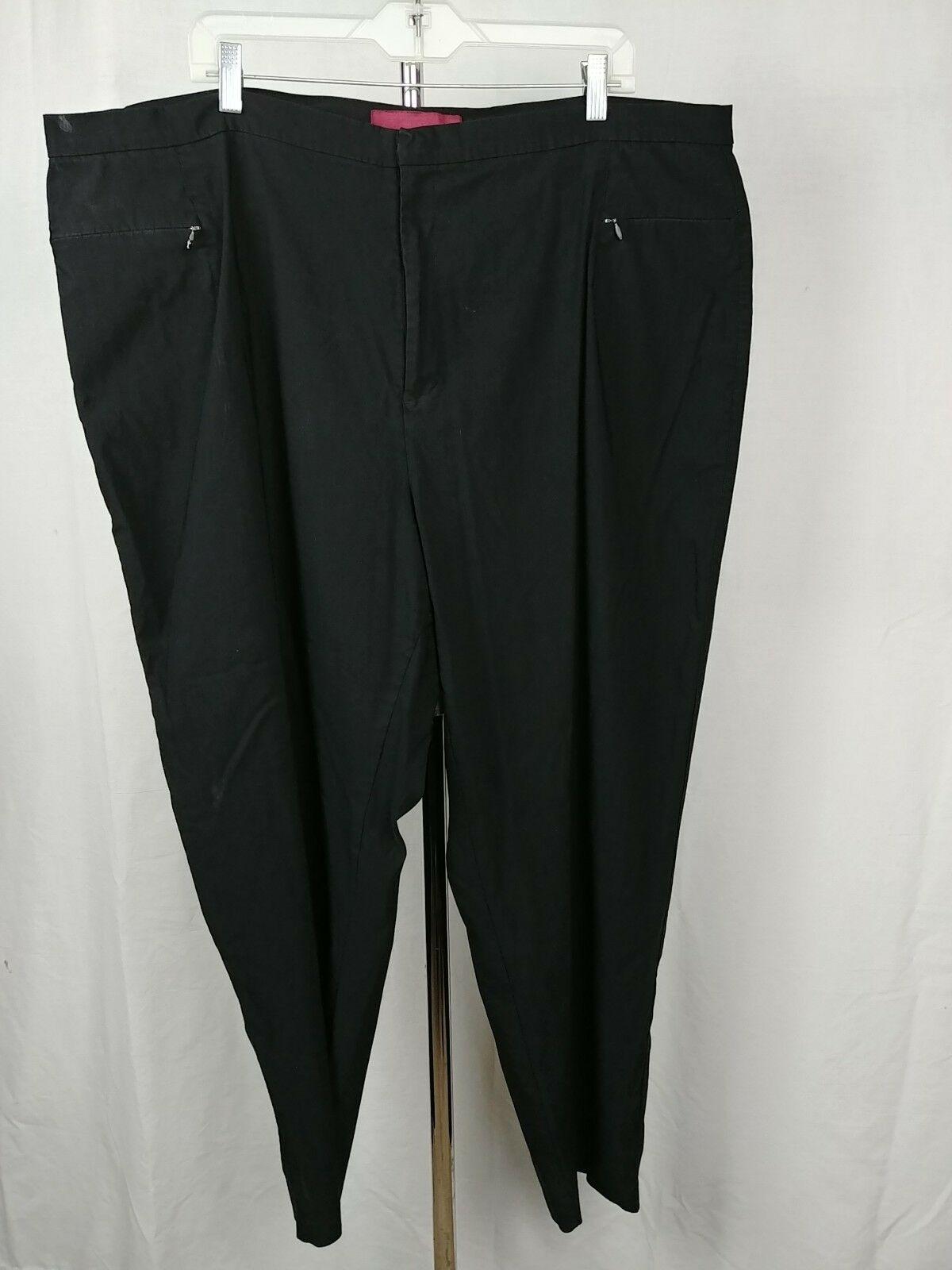 Merona Black Slacks Dress Pants Womens Plus Size 26WA 42x30