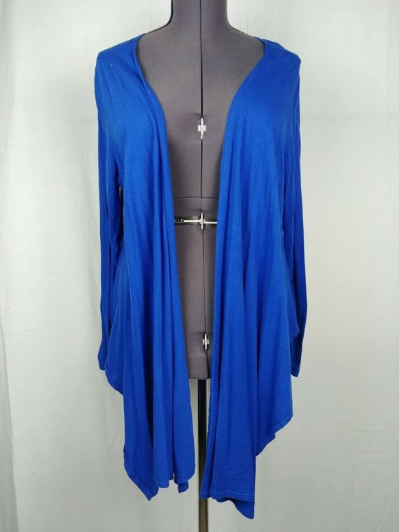 metropolitan-blue-long-sleeve-cardigan-cover-womens-blouse-size-xl