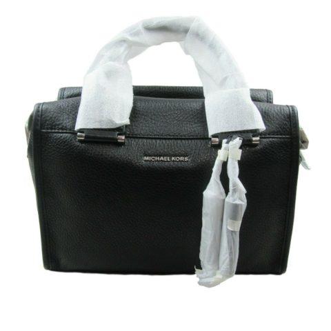 984fbfd89951 Michael Kors Geneva Large Satchel Black Leather Crossbody Bag New $378
