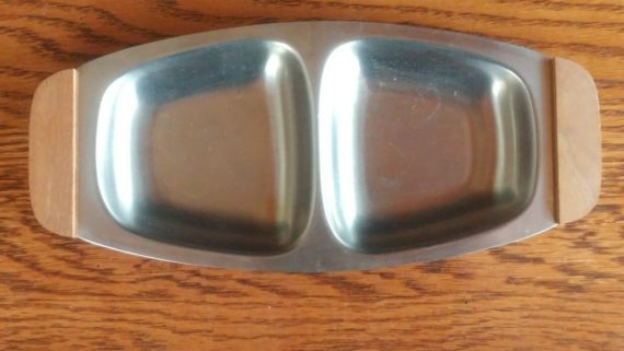 mid-century-stainless-wood-tray-18-8-stainless-steel-japan-7-1-4-long