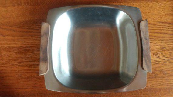 mid-century-stainless-wood-tray-18-stainless-steel-japan-10-1-4-long