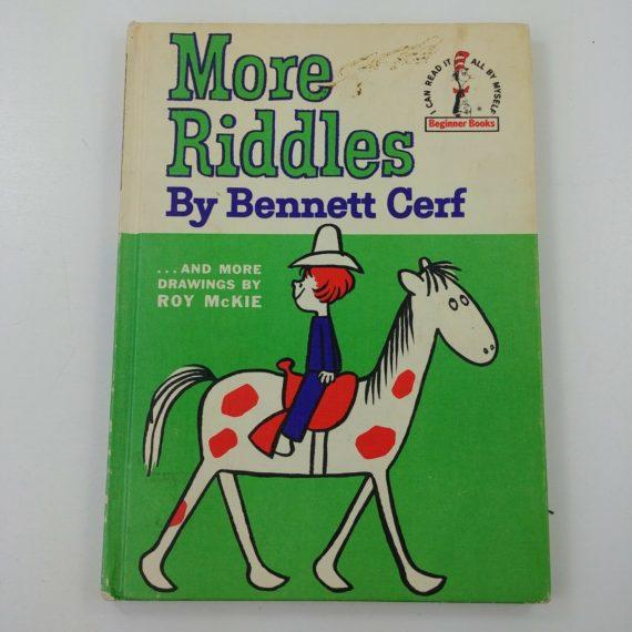 more-riddles-bennett-cerf-1st-1961-dj-beginner-book-dr-seuss-1st-edition