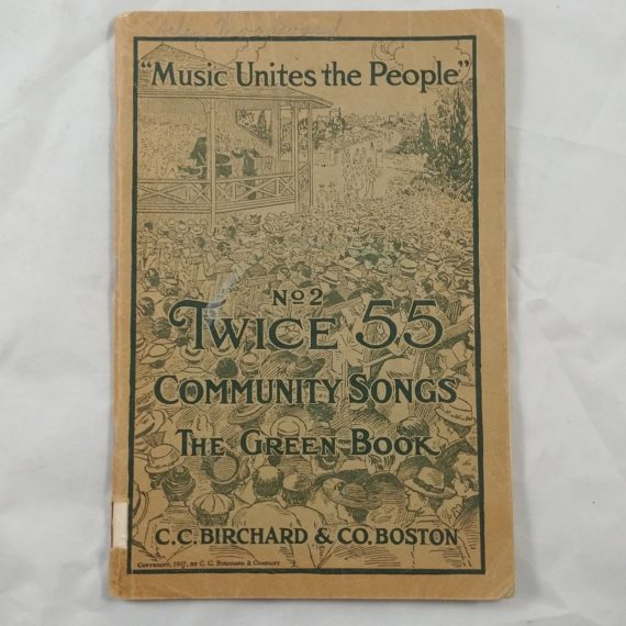 music-unites-the-people-community-green-book-vintage-music-song-book-booklet