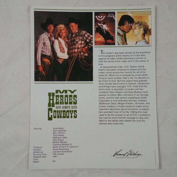 my-heroes-have-always-been-cowboys-vtg-movie-promo-ad-flyer-pinup-poster-1991