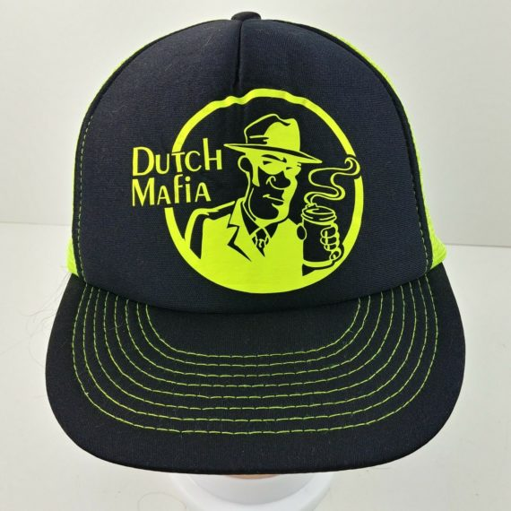 neon-green-dutch-bros-brothers-mafia-black-trucker-baseball-snapback-cap-hat