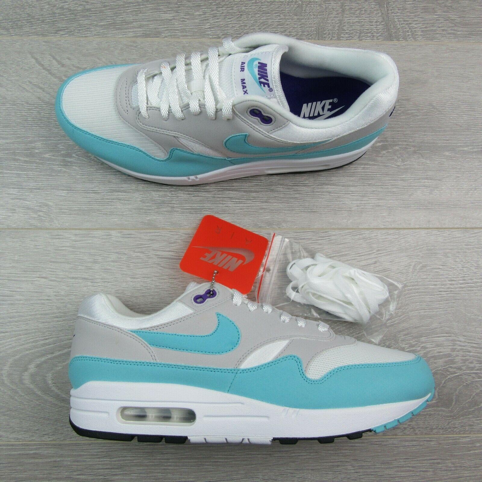 e88a229e41 Nike Air Max 1 Anniversary Aqua White Size 10 Mens Shoes 908375 105 New