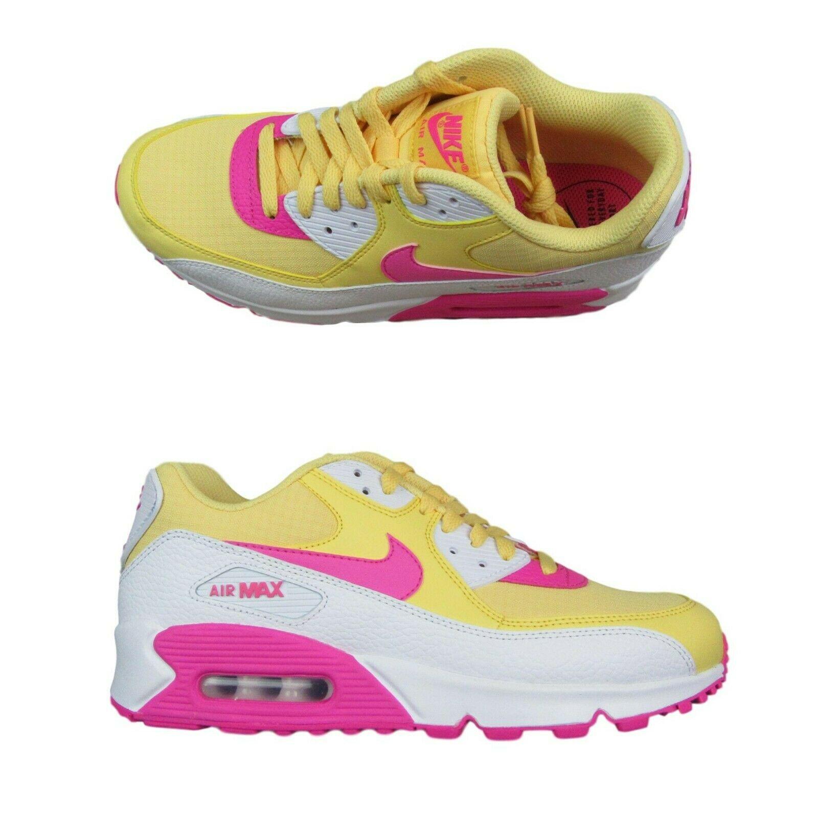 df359b68fb31 Nike Air Max 90 Womens Size 9.5 Topaz Gold White Laser Fuchsia ...