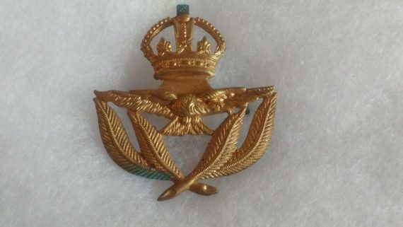 old-military-pin-medal-ww2-to-vietnam-royal-crown-eagle-leaves-leaf