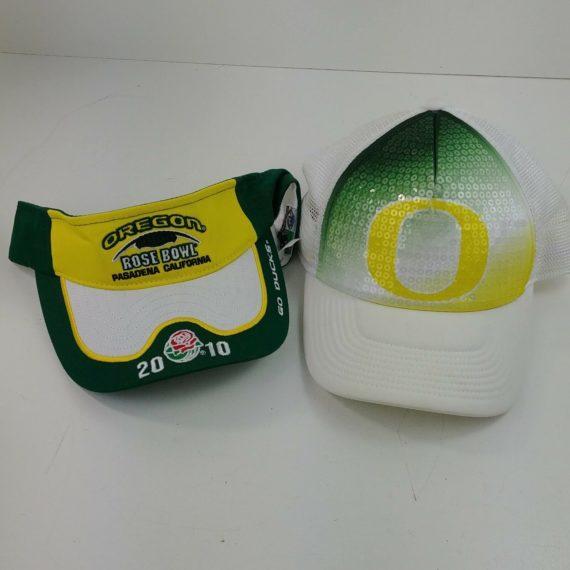oregon-ducks-lot-visor-baseball-snapback-green-yellow-trucker-hat-lot-27