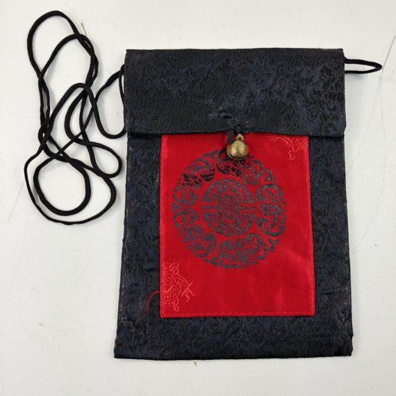 oriental-asian-shoulder-purse-black-red-sun-dragon-pouch-jingle-bell-closure