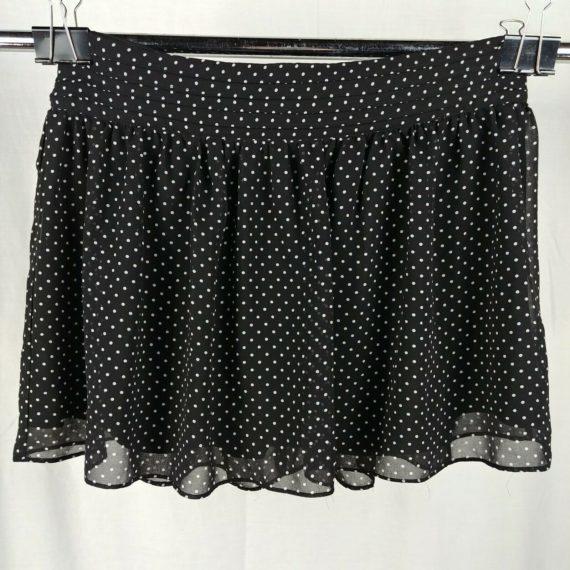 oslenboye-black-white-polka-dot-short-skirt-juniors-size-9
