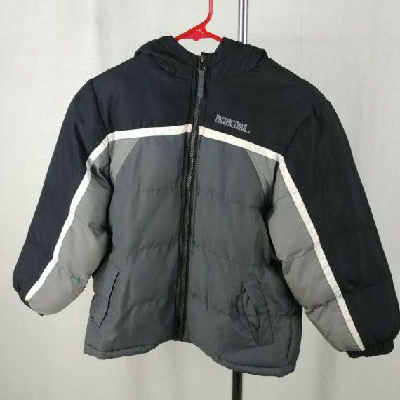 pacific-trail-black-gray-kids-puffer-winter-jacket-size-l-7