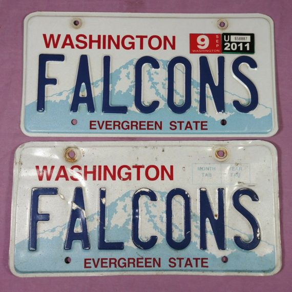 pair-license-plates-washington-state-evergreen-state-falcons