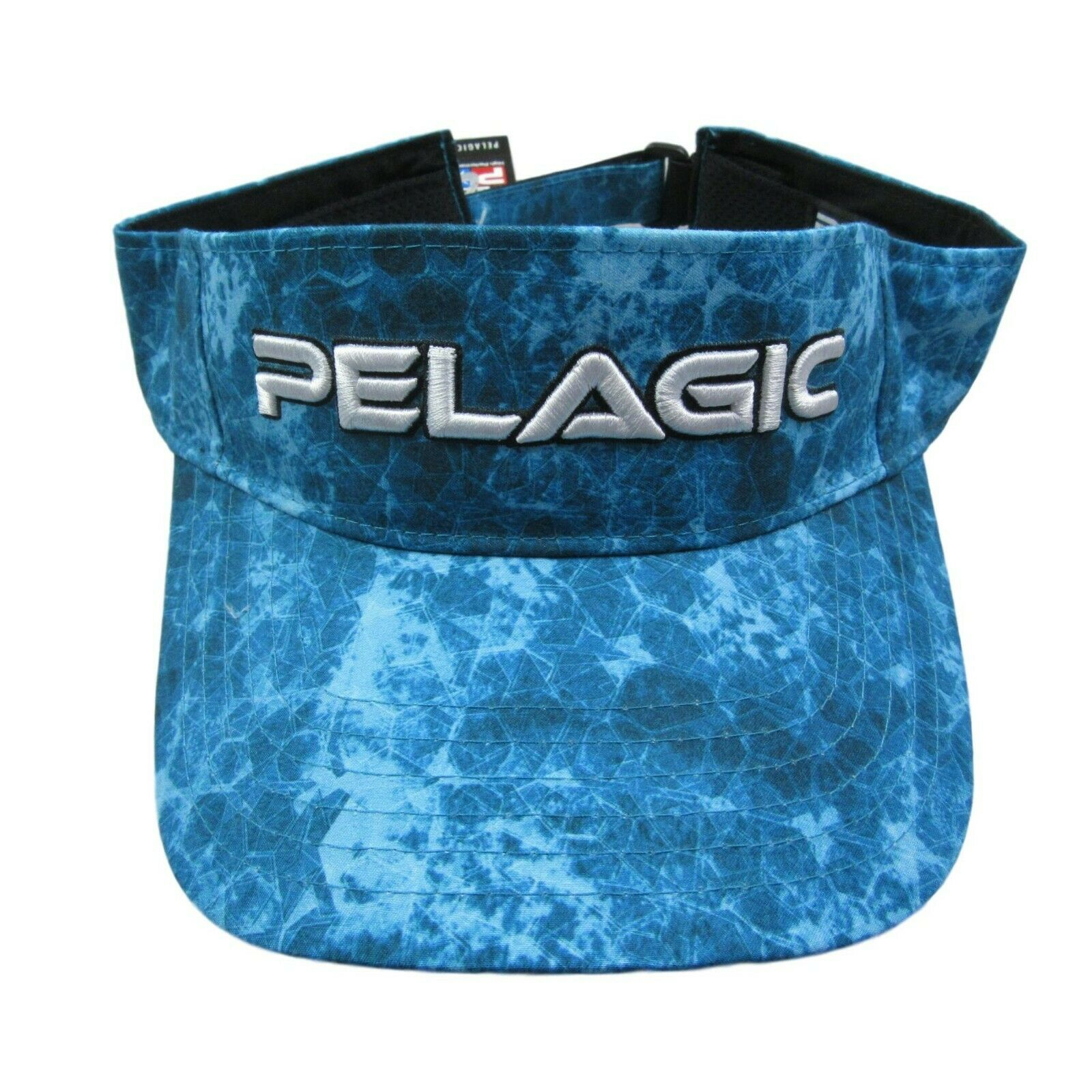 c8b55398aa950 Pelagic Visor Hat Cap Aqua Blue Offshore Fishing Adjustable One Size ...