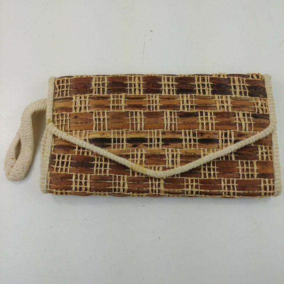 philippines-made-bark-twine-weave-womens-purse-clutch-handbag-vintage