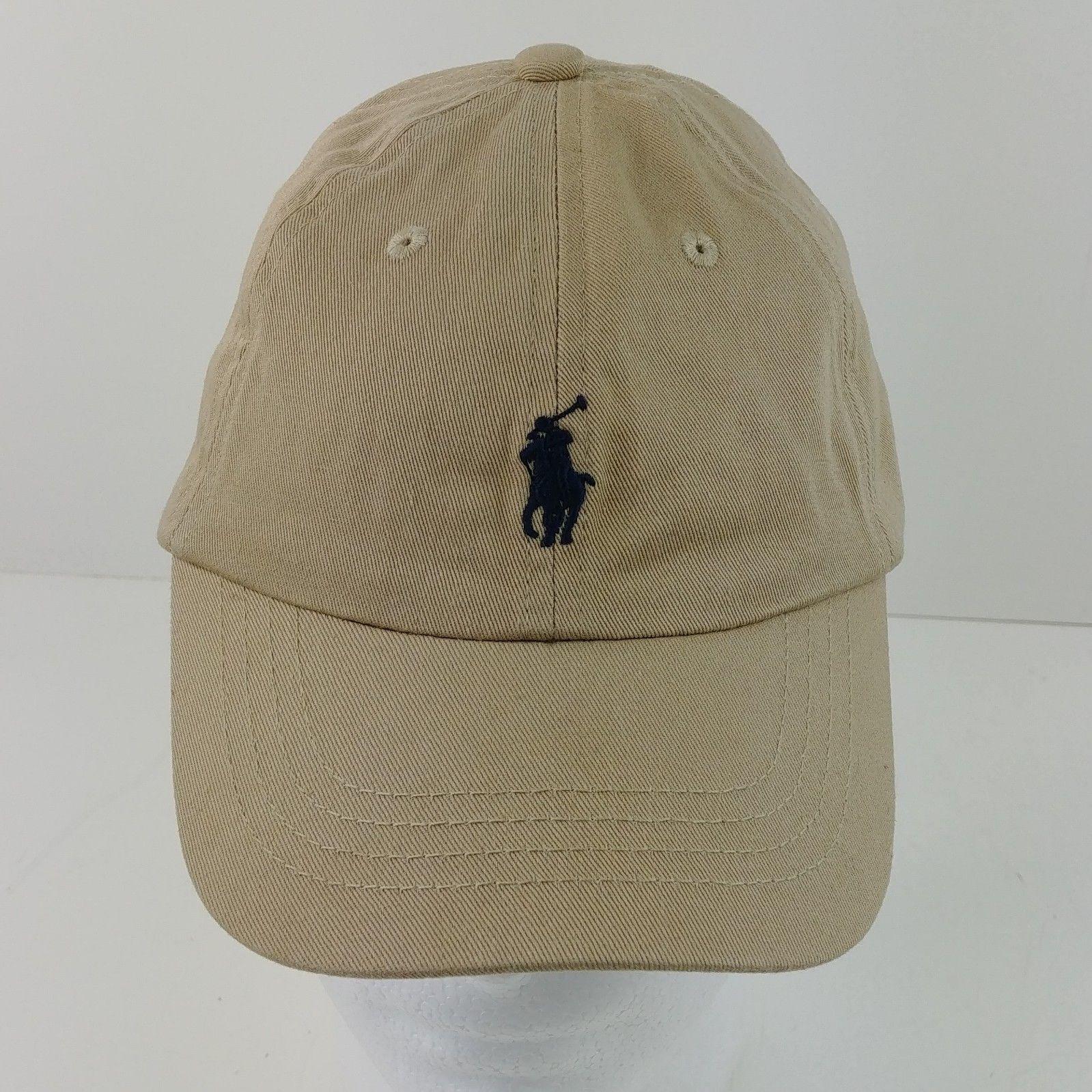 eb0bd121 Polo Ralph Lauren Tan Baseball Snapback Cap Hat 100% Cotten – Lot #40