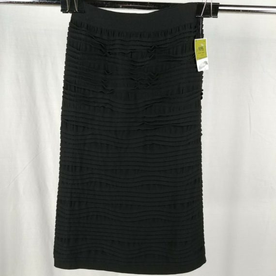 prime-cut-black-ruffle-textured-long-modest-skirt-womens-one-size-nwt