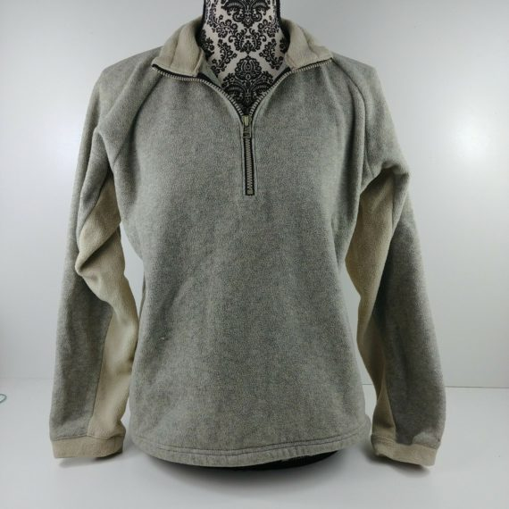 rei-gray-fleece-jacket-sweater-partial-zip-pull-over-junior-womens-xl-16-18
