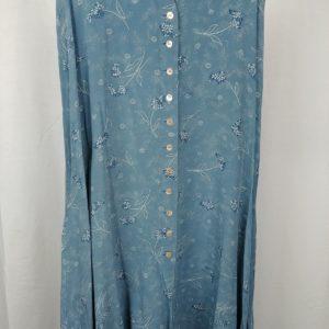 rena-rowan-for-saville-blue-button-up-floral-100-silk-skirt-womens-size-12