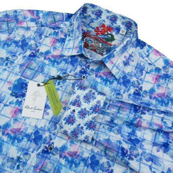 robert-graham-bow-line-long-sleeve-blue-classic-fit-shirt-size-2xl-mens-new-198