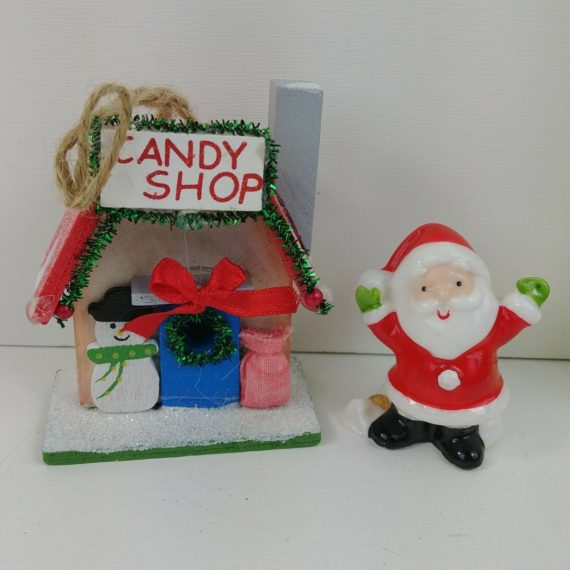 santa-figurine-ceramic-cute-christmas-candy-shop-ornament-tinsil-snowman-bow