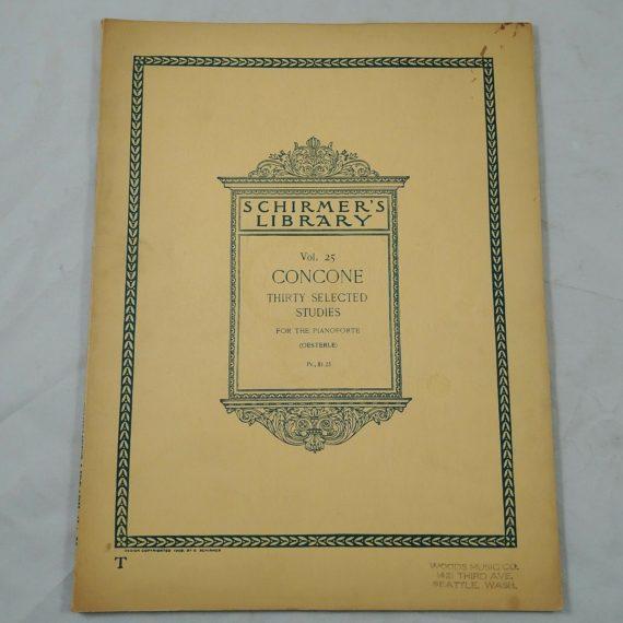 schirmers-library-vol-25-concone-30-selected-studies-pianoforte-1908-book