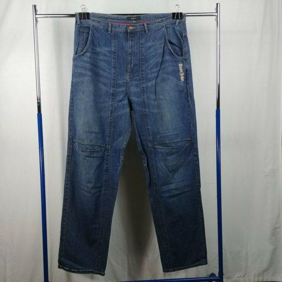 sean-john-blue-denim-jeans-medium-wash-embroidered-size-42t-100-cotton